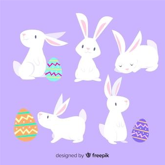 Coleção de coelho de dia de páscoa