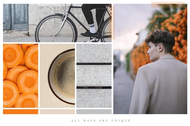 Coleção de colagem de fotos