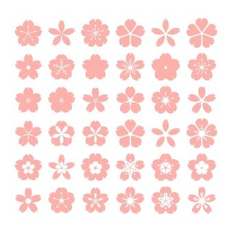 Coleção de coleção sakura de design plano