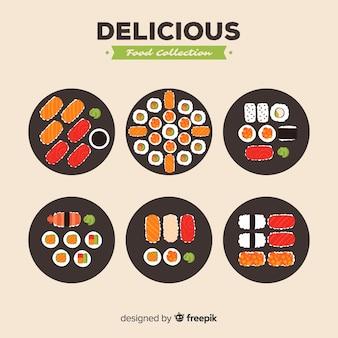 Coleção de comida deliciosa