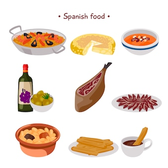 Coleção de comida espanhola