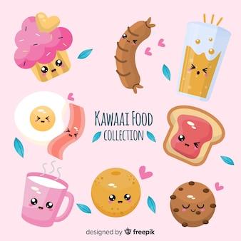 Coleção de comida kawaii
