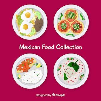 Coleção de comida mexicana