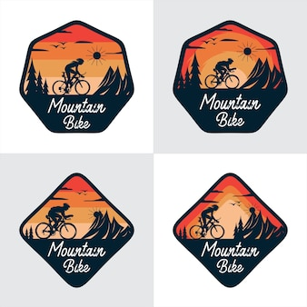 Coleção de conceito de mountain bike