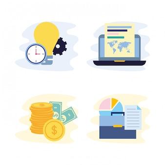 Coleção de conceito de negócio
