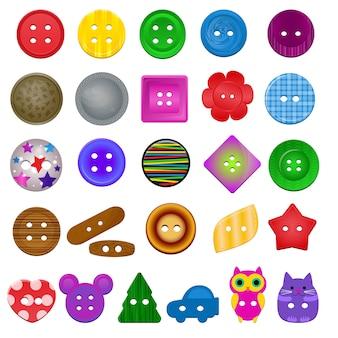 Coleção de conjunto de botão de costura