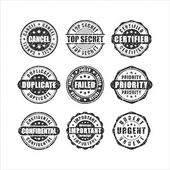 Coleção de conjunto de design de selos