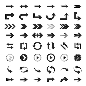 Coleção de conjunto de flechas