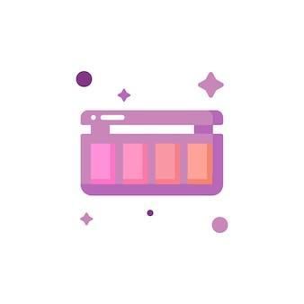 Coleção de conjunto de ícones de maquiagem fofa e isolada