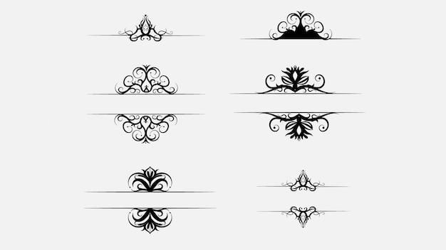 Coleção de conjunto de ornamentos modernos