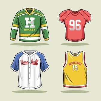 Coleção de conjunto de roupas esportivas