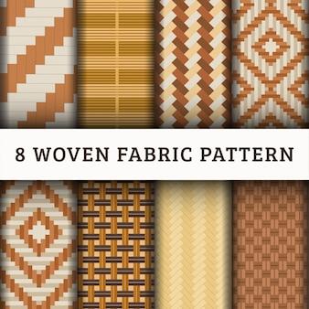 Coleção de conjunto padrão de tecido