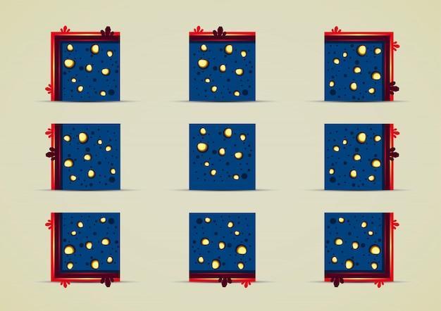 Coleção de conjuntos de azulejos de mina