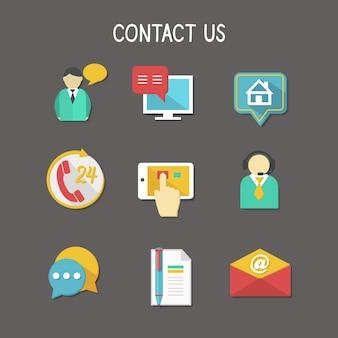 Coleção de contacto ícones