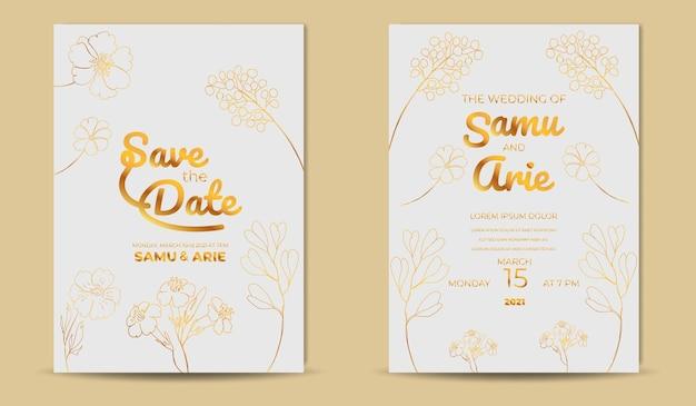 Coleção de convite de casamento