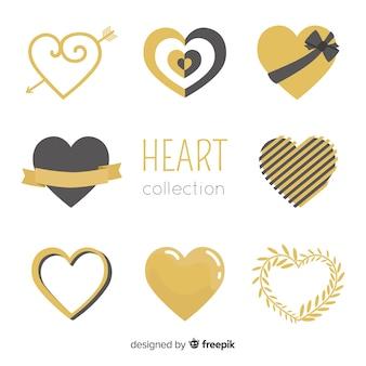 Coleção de coração de ouro