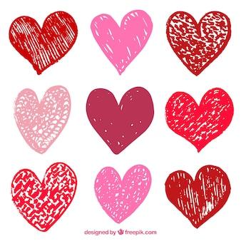 Coleção de coração do dia dos namorados