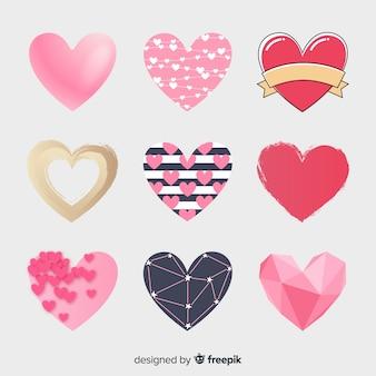 Coleção de coração liso
