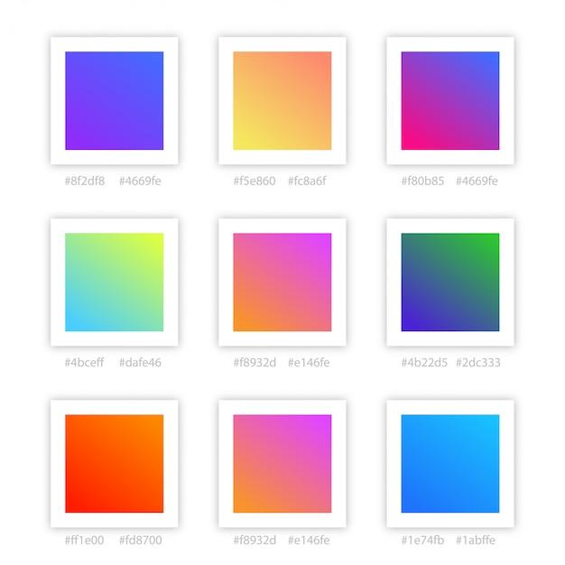 Coleção de cores gradientes