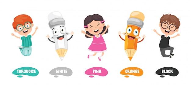 Coleção de cores para educação infantil