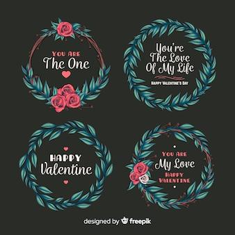 Coleção de coroa de dia dos namorados