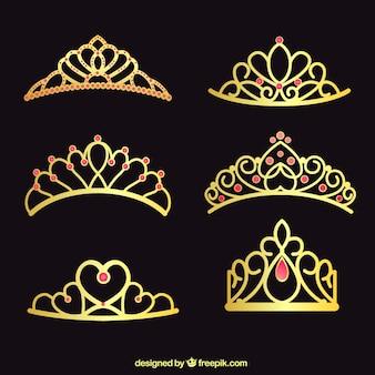 Coleção de coroas de ouro