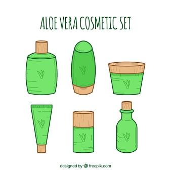 Coleção de cosméticos aloe vera