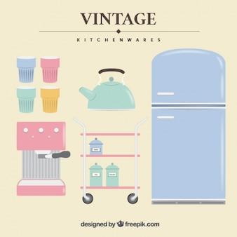 Coleção de cozinha do vintage