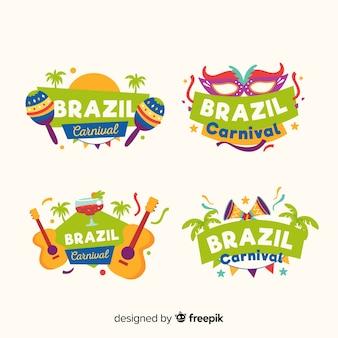 Coleção de crachá brasileiro carnaval