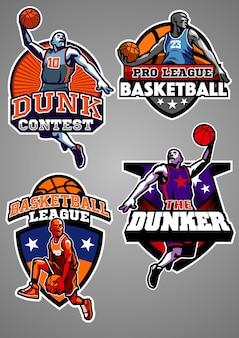 Coleção de crachá de basquete