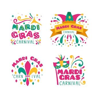 Coleção de crachá de carnaval