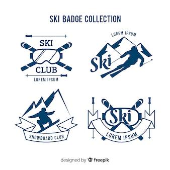 Coleção de crachá de esqui