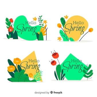 Coleção de crachá de primavera