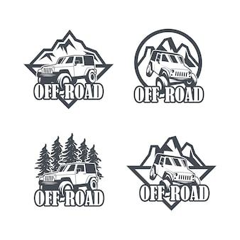 Coleção de crachá de veículo off-road