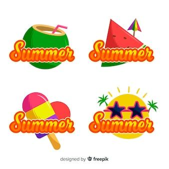Coleção de crachá de verão