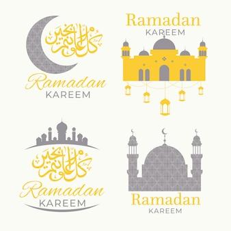 Coleção de crachá do ramadã