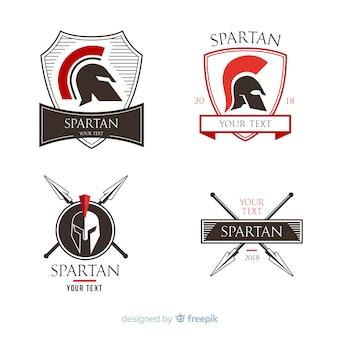 Coleção de crachá espartano
