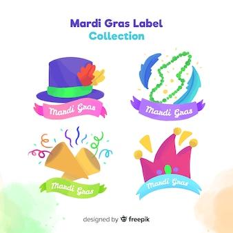 Coleção de crachá mardi gras