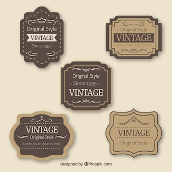 Coleção de crachá vintage