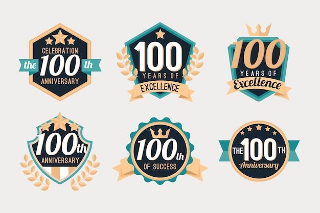 Coleção de crachás 100 anos