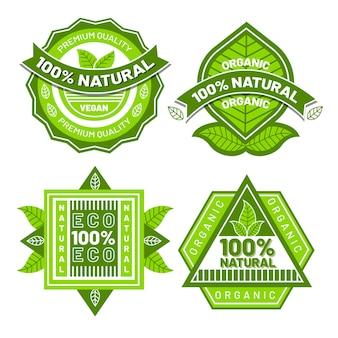 Coleção de crachás 100% natural