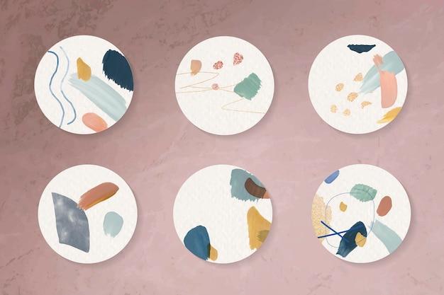 Coleção de crachás abstratos coloridos