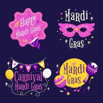 Coleção de crachás de carnaval