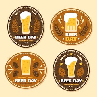 Coleção de crachás de dia de cerveja