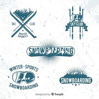 Coleção de crachás de esqui / neve