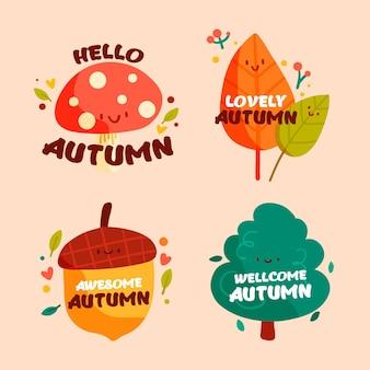 Coleção de crachás de outono