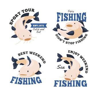 Coleção de crachás de pesca