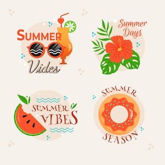 Coleção de crachás de verão