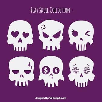 Coleção de crânios engraçados