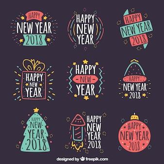Coleção de cravos do ano novo de 2018
